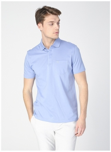 Pierre Cardin Pierre Cardin Erkek Kısa Kollu Mavi Regular Fit Polo Yaka T-Shirt Mavi